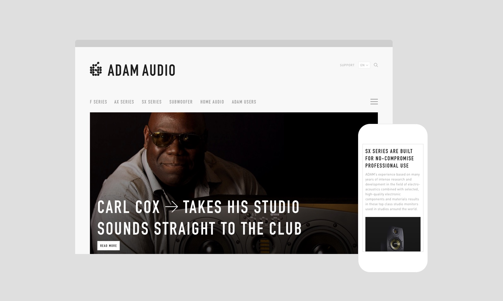 Adam Audio interface by Felix Dorner